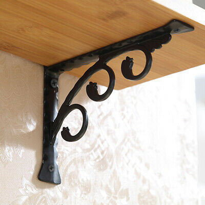 2pcs Wall Hanging Shelf Bracket Heavy Duty Rack Home Store Bar Hotel 15x12cm