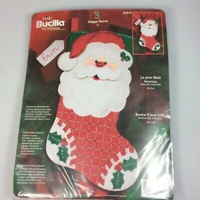 Bucilla Felt Stocking Kit Happy Santa