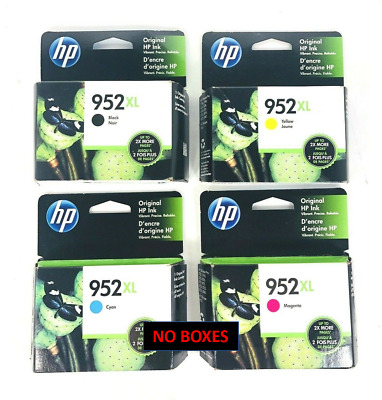 4-PACK HP GENUINE 952XL Black & Color Ink for OFFICEJET PRO 8740 NEW (NO BOXES)