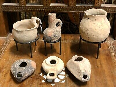 A 6-piececollection of Ancient Pottery. 4000 B.C.E/ 640 C.E.