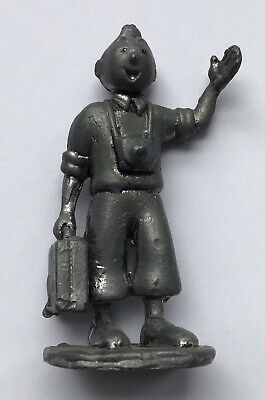 Tintin Suitcase Figure in Pewter 8 cm Good Condition