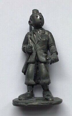 Tintin Chasseur Figure in Pewter 8 cm Good Condition