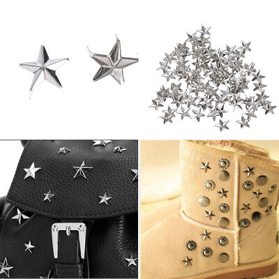 Punk Sewing Decoration Spots Nailhead Star Rivets Leather Craft Studs Spikes