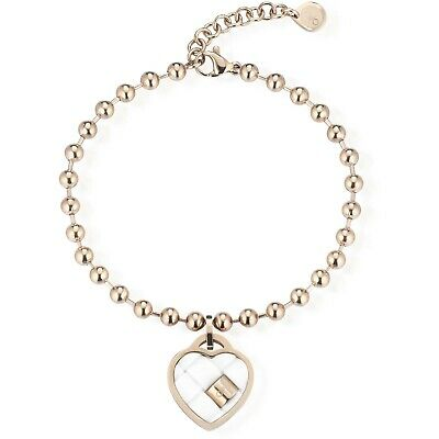 Ops Objects Opsbr-552 Bracciale Twist Donna Cuore Rose' List. 35€ Sottocosto