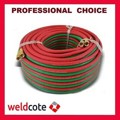 "Weldcote 100ft. X 1/4"" Grade-R High Quality Twin Welding Torch Hose"