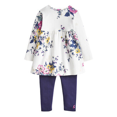 Joules Junior Girls Christina Dress And Legging Set, Anniversary Floral