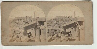 Francis Frith - Views in Egypt and Nubia - Stereoview - c1857 - Ruins of Karnak