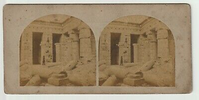Francis Frith - Views in Egypt and Nubia - Stereoview - c1857 - View of Medeenet