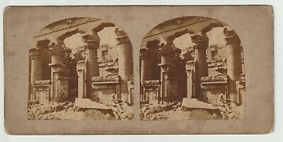 Francis Frith - Views in Egypt and Nubia - Stereoview - c1857 Temple of Kalabshe