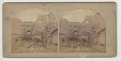 Francis Frith - Views in Egypt and Nubia - Stereoview - c1857 View of Medeenet