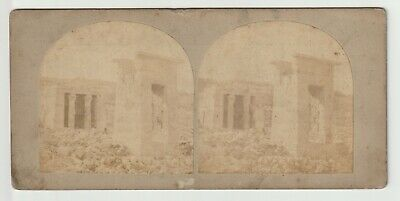 Francis Frith - Views in Egypt and Nubia - Stereoview - c1857 Temple of Dendoor
