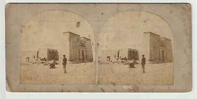 Francis Frith - Views in Egypt and Nubia - Stereoview - c1857 Temple of Dakkeh