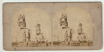Francis Frith - Views in Egypt and Nubia - Stereoview - c1857 Colossi of Plain