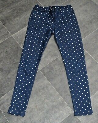 Fab Girls Navy Spotty Trousers Aged 9-10 Years - Brand New