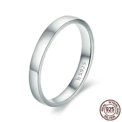 925 Sterling Silver Wedding Ring Classic Round Wedding Engagement Ring