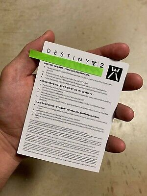 Destiny 2 Guardians Call Emblem New DLC Code Card IN HAND AND SAME DAY DELIVERY!