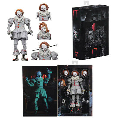 """NECA IT Ultimate 7"""" Action Figure Well House Pennywise Clown 2017 Movie Doll Toy"""