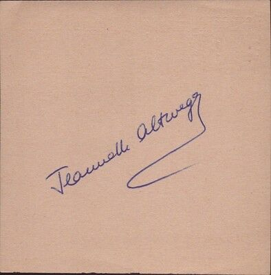 Jeannette Altwegg England GB Olympia Gold 1952 Figure Skating Autograph (B-8923