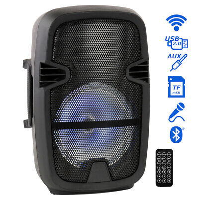 """Portable 8"""" Bluetooth DJ Speaker 4500W Max Power PA Loudspeaker with LED, Remote"""
