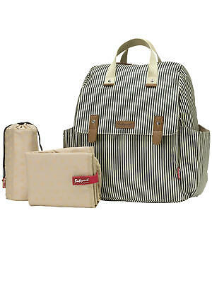 Babymel Changing Bag Robyn 4-in-1 Convertible Backpack, Navy Stripe