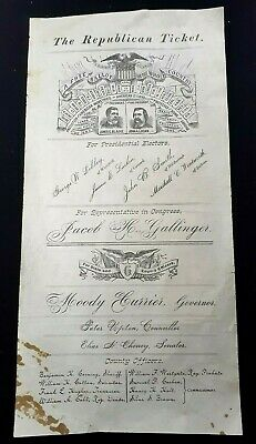 1884 Republican Party Presidential Campaign Blaine & Logan Ticket