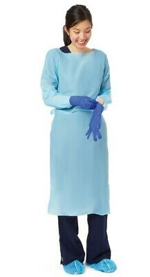 Thumb Loop Isolation Gowns Regular Blue (75pc) Ritmed AMD New