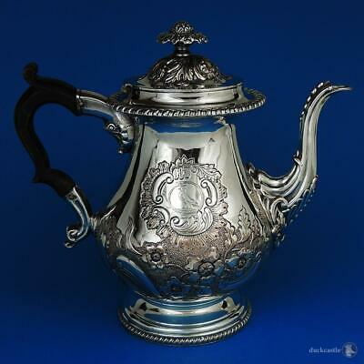Decorative GEORGE IV OLD SHEFFIELD PLATE COFFEE POT c1825 CRESTED Bird Snake