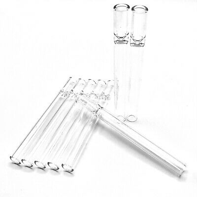 2X Glass Chillum Pipe Pyrex Reusable One Hitter Smoking Tube FREE Shipping