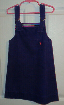 Ralph Lauren Polo  Purple Corduroy Jumper Dress Girls Size 5
