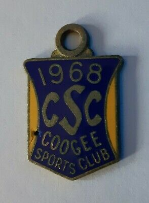 1968 Coogee  Sports Club Members Badge