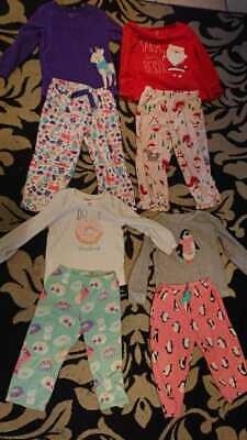 Lot of 4 Girls Pijamas Size two 2t and two 3t brand Carter