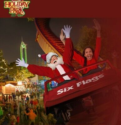 Four (4) Six Flags Tickets 2019 HOLIDAY in the PARK Good till 12/31