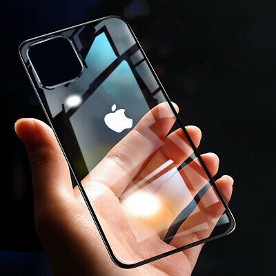 For iPhone 11 Pro Max Plating TPU Shockproof HD Clear Soft Ultra-thin Case Cover