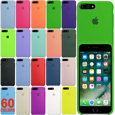 Funda Para Apple Iphone 7 8 Plus Skin Original Silicona Carcasa Oem Case Cover