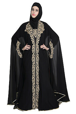 Plus Size Maghribi Kaftan Lawn Gown Tailor Made Luxury Wedding Gown Maxi 5334