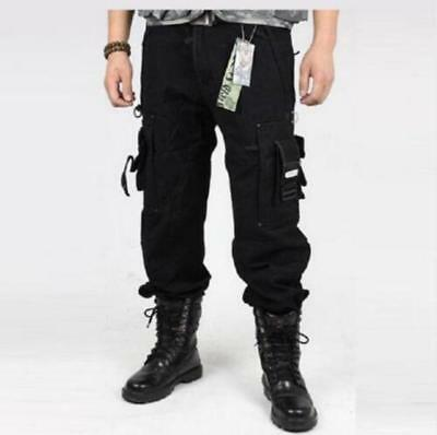 Spring Mens Boys Cargo Millitary Tactical Pants Outdoor Camo Workwear Trousers @