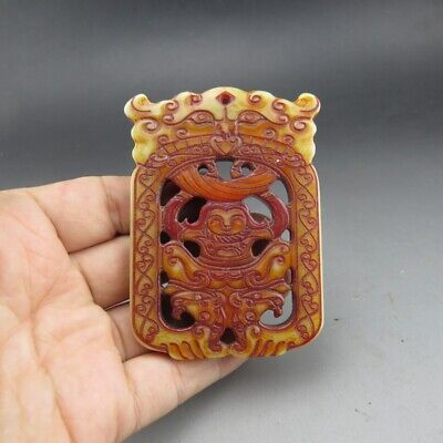 Chinese jade,Hongshan culture,Hetian jade,ancient jade,Apollo,choi,pendants A80