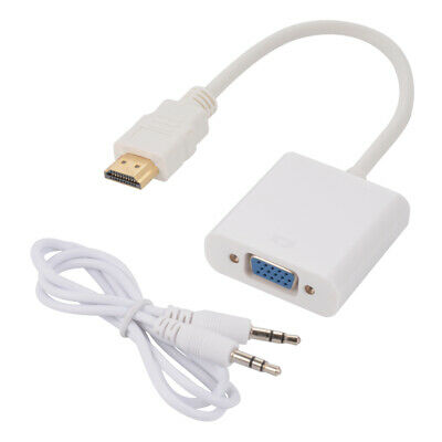 HDMI To VGA HD 1080P Converter Adapter + Audio Cable for PC DVD TV Monitor Xbox