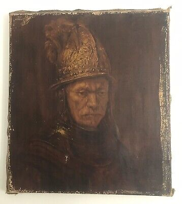rembrant  Man Golden Helmet  Oil Copy On Canvas