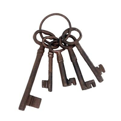 Pirate Treasure Chest Keys Set,Key Ring Antique Style,Rustic Cast Iron Skel C3C3