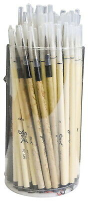 Sax Quality Economy Assorted Trim Bamboo Handle Paint Brush Set, Assorted Size,