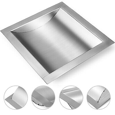 "Stainless Steel Drop-In Deal Tray, Brushed Finish, 8"" (w) x 10"" (d)"