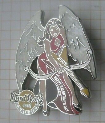 HARD ROCK CAFE / ATHENS 2005 VALENTINES DAY RED DRESSED WING GIRL ....Pin (214f)