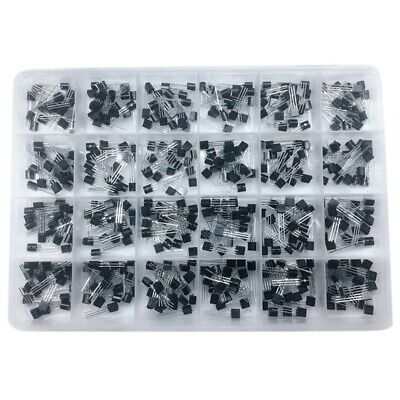 To-92 Transistor Assorted Kit 24Value 480Pcs Transistors Box Pack S9012 S90 A8W5