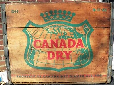 Canada Dry Soda 1955 Beverage Soft Drink Case Crate Box Ginger Ale