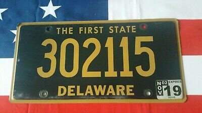 Plaque d'immatriculation Delaware 302115  US USA license plate