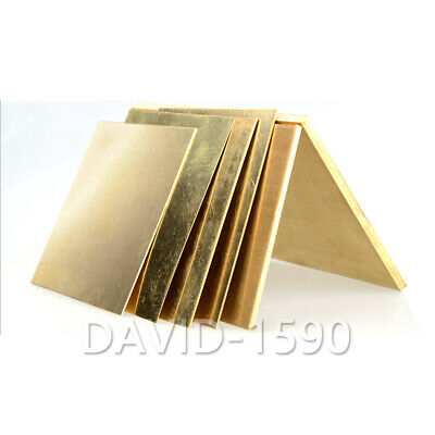 1pcs CuZn40 C28000 Brass Metal Sheet Plate Brass Sheet Bar Thickness 0.8mm - 5mm