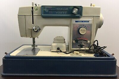Spiegel Vogue Stitch Zig-Zag Sewing Machine Model 305AL Tested w/ Case Japan