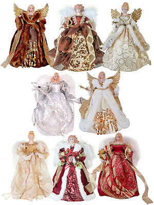 Christmas 30cm Angel Fairy Tree Topper Gold Silver Copper Red Decoration Xmas
