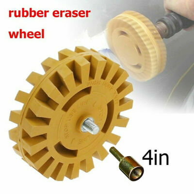 Set Rubber Eraser Wheel Drill Adapter Car Polishing Removal Metalworking